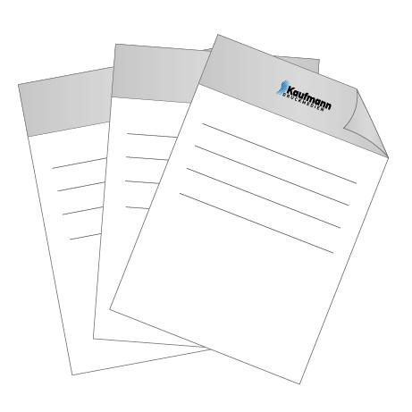 Briefpapier HKS   DIN A4 einseitig   4/0-farbig