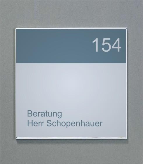 Wandschild   System Karlsruhe   12 cm x 12 cm